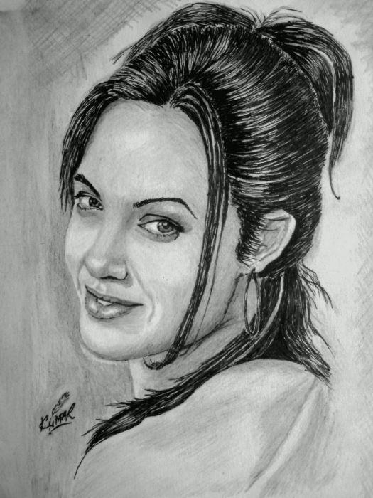 Angelina Jolie by Kumarr